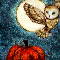 Alcohol Ink Owl   Virginia Crowe