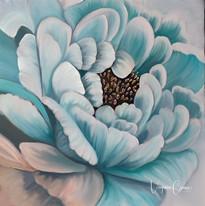 Acrylic Peonies Flower painting Virginia Crowe