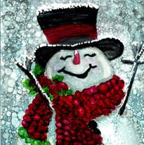Alcohol ink Snowman Virginia Crowe