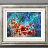 Acrylic Poppy Painting  Virginia Crowe