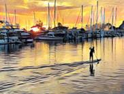 Dana Point Harbor.   Original Photo by VIrginia Crowe. Digitally Enhanced with Procreate
