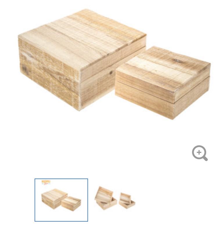 Square boxes No Hinge
