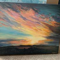 Acrylic Sunset Painting Virginia Crowe