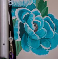 Acrylic Flower Wall Mural Virginia Crowe