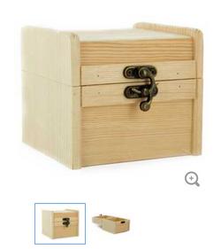 Hinged box fancy hardware