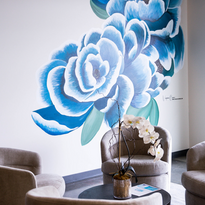 Acrylic Floral. Wall Mural Virginia Crowe