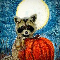 Alcohol Ink Raccoon Virginia  Crowe