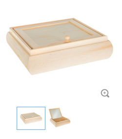 Removable Lid Jewel Box with Mirror