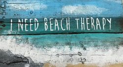 Beach Therapy Sign