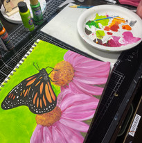 Spring Butterfly painting
