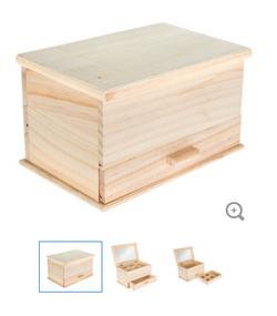 Rectangular Jewelry box w drawer