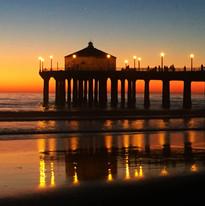 Manhattan Beach Pier Photography by Virginia Crowe