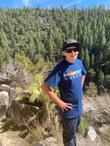 my son at Walnut Canyon