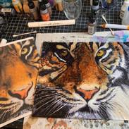 Tiger Painting Alchohol Ink