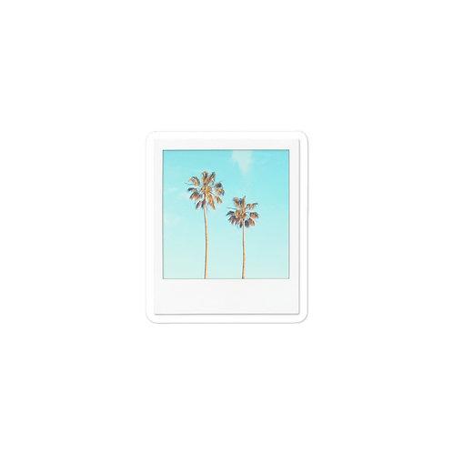 Palm Trees Polaroid Sticker