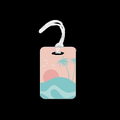 Island Scene Luggage Tag