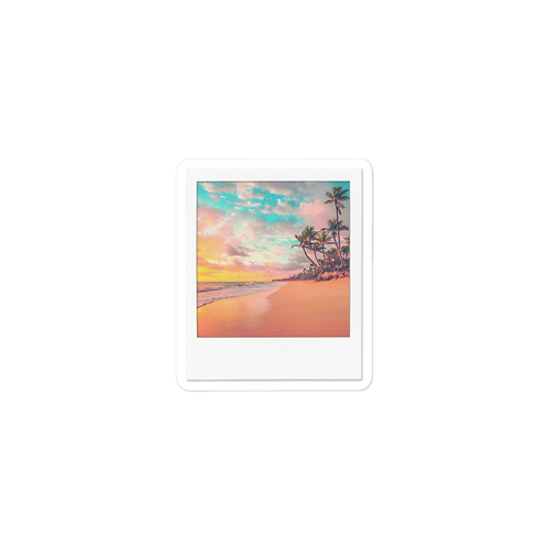 Beach Polaroid Sticker