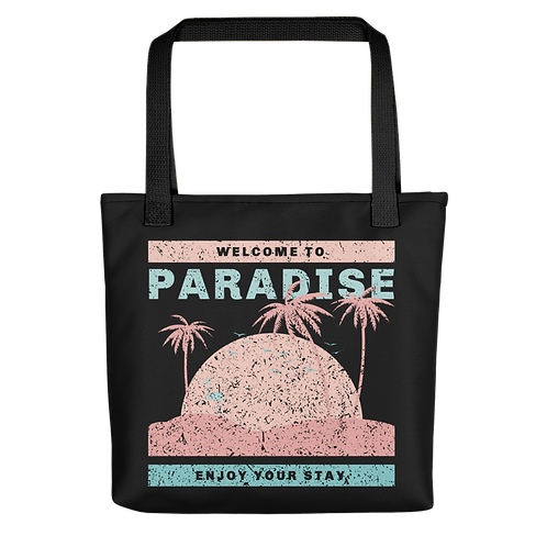 Welcome To Paradise Beach Bag