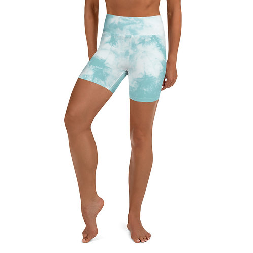 Aqua Tie Dye Bike Shorts