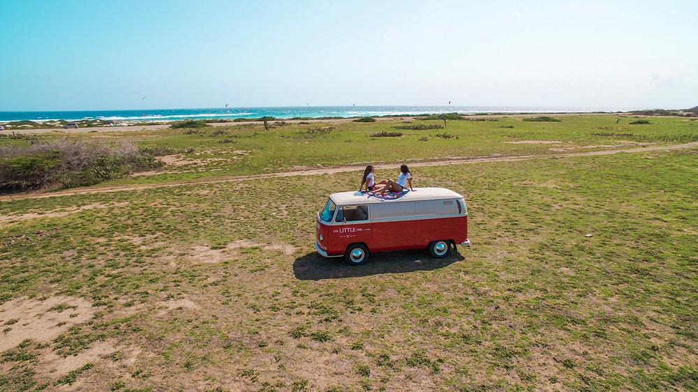 Red Camper Van Aruba Dushi Designs