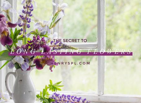 The Secret To Long Lasting Flowers