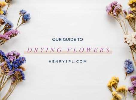 How to Dry Fresh Flowers