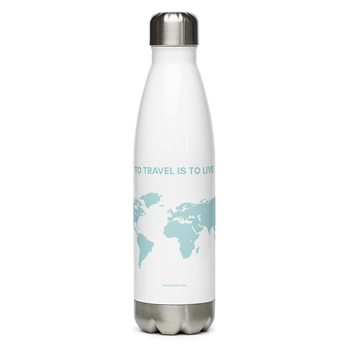 Travel Quote Stainless Steel Water Bottle