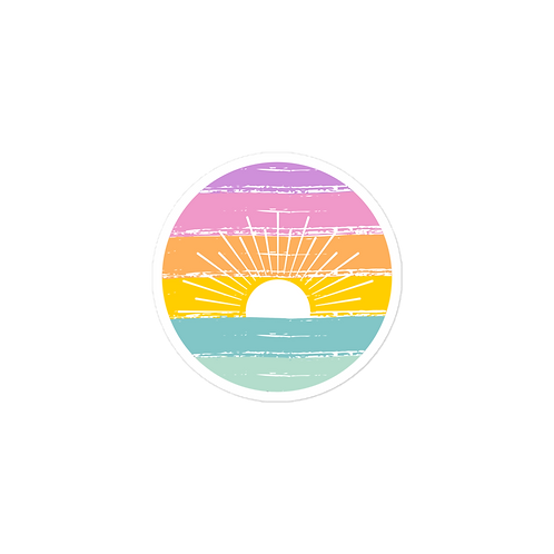 Rainbow Sunset Sticker