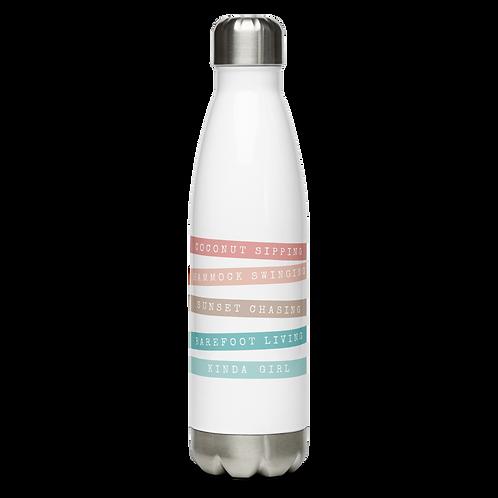 Coconut Girl Stainless Steel Water Bottle