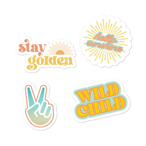 Peace And Sunshine Sticker Pack