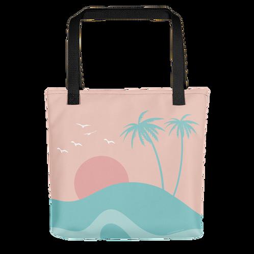 Island Scene Beach Bag
