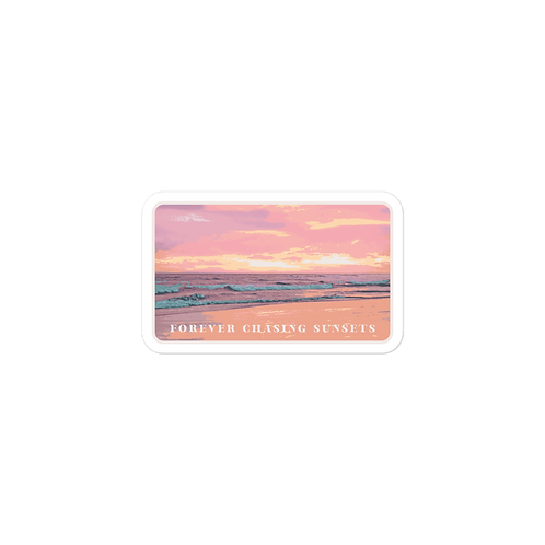 Chasing Sunsets Sticker