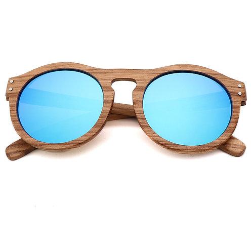 Retro Style Natural Wood Sunglasses