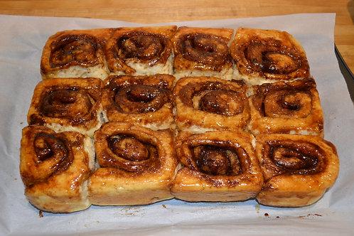 Baked & Frozen Traditional Cinnamon Buns (Half Dozen)