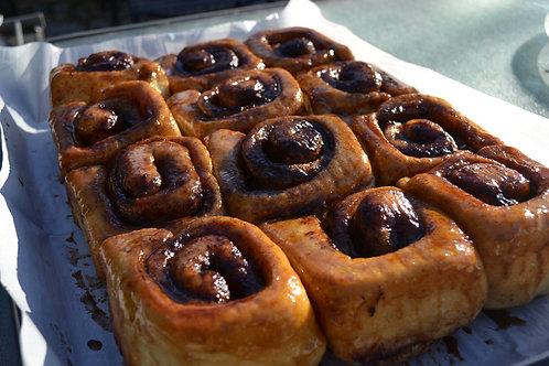 Baked & Frozen Vegan Cinnamon Buns (Half Dozen)