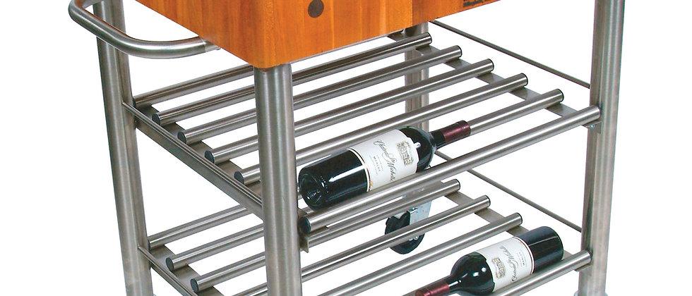 Cucina D'Amico Wine Cart in Cherry (John Boos + Co)