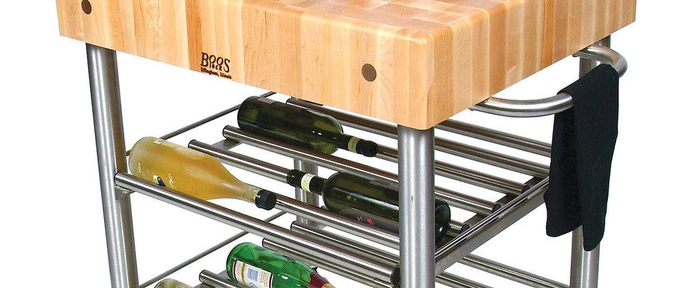 Cucina D'Amico Wine Cart in Maple (John Boos + Co)