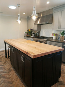 Custom Maple Butcher Block Countertop -