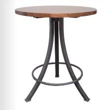 John Boos Co. Bistro Style Round Table Walnut Top