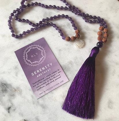 SERENITY 108 Amethyst Mala beads