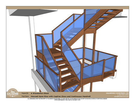 Housed Open Rise with Captive Glass and Continuous Handrail_1