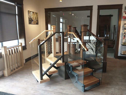 Stair and Railings Showroom Display