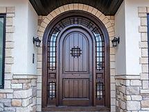 Solid Wood Exteior Door with Sidelights