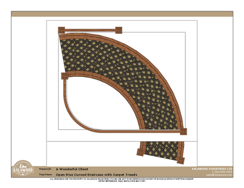 Housed Open Rise Curved Staircase with Carpet Treads_3