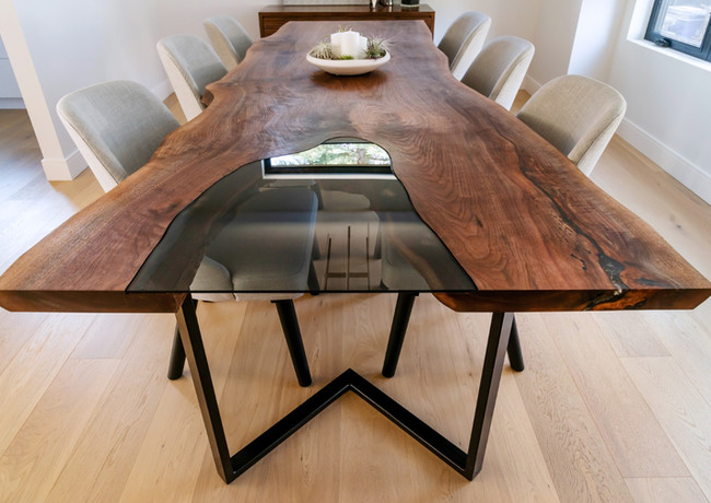 Walnut Slab Table with Inset Glass (8).J