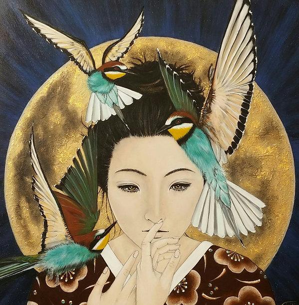 acryl art painting by Cicilia Postma
