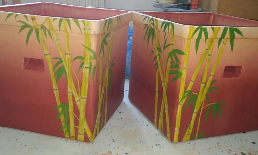Bamboo potten