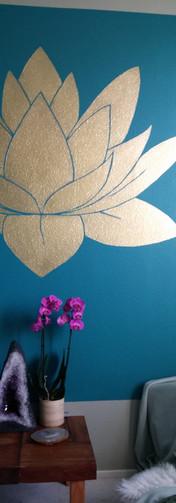 Lotus, goudfolie - eindresultaat