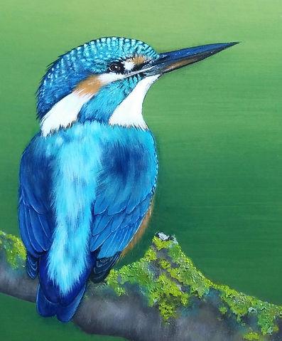 Ijsvogel acryl art by Cicilia Postma
