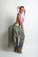 lace-plaid-balloon-dress-leg-warmers